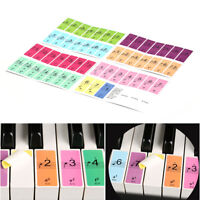 88 Keys Piano Keyboard Sound Name Stickers Piano Keyboard Music Decal Label S*