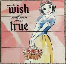 Disney Princess Snow White Water Color Wood Panel Wall Art Kids Room Decoration