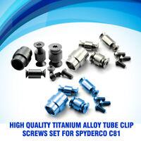 Titanium Alloy Spindle Tube Clip Screws Set for Spyderco C81 Paramilitary