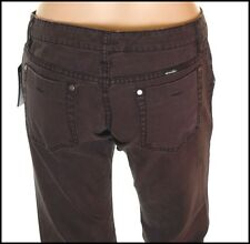 """BNWT Mujeres """"s Oakley Jeans Denim industrial L32"""" tamaño de Reino Unido 6 Negro Entallada Nuevo"""