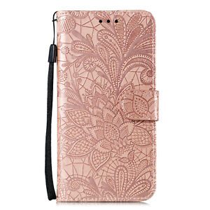 For Samsung Galaxy A32 A42 A52 Lace Wallet Flip Stand Leather Phone Case Cover