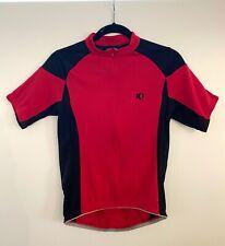 PEARL IZUMI Women's Medium M Cycling Jersey 1/2 ZIP Red Black Bike Shirt EUC