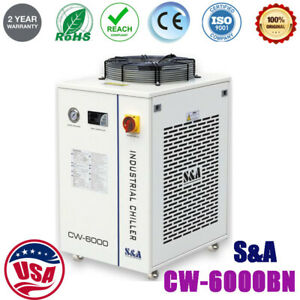 S&A 220V CW-6000BN Water Chiller Industrial for 30W-300W Fiber Laser,CNC Spindle