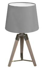 Wooden Tripod Lamp - Grey