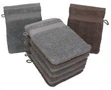 Betz 10er Pack Waschhandschuhe PREMIUM Farbe Nuss & Anthrazit
