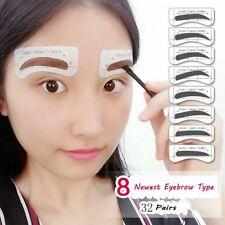 32Pairs DIY Card Brow Stencils Eye Grooming Eyebrow Template Stickers 8 Types