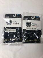 2 Men's Pair of Thieves SuperSoft Boxer Brief Underwear Black & Spots Size Med
