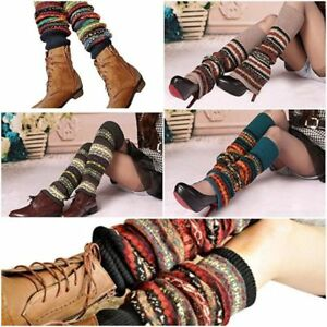 1 Paar Strickstulpen Grobstrick Beinstulpen Beinwärmer Overknee Strümpfe Socken