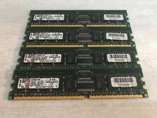 4x Kingston KVR333S4R25/512I 2GB (4x512MB) DDR 333MHz PC2700 ECC Reg Memory USED