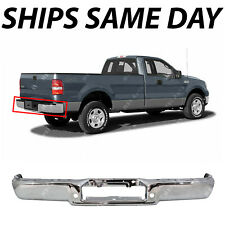 NEW Chrome - Steel Rear Step Bumper Face Bar for 2004 2005 2006 Ford F150 Truck