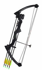 JH7474 Traditional Compound Bow Black 20lbs Hunting Archery Fishing Outdoor