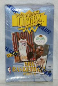 1995-96 FLEER Ultra NBA Basketball Series 2 Unopened Factory Sealed Box.