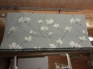 Roman Blind, Laura Ashley Magnolia Slate Grey  Floral  Fabric  (Made to measure)