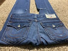 TRUE RELIGION STRAIGHT WITH FLAPS MADE IN USA DESIGNER MEN'S JEANS SIZE 31X34