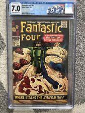 Fantastic Four #61 CGC 7.0 C/OW PGS MARVEL COMICS 1967 Silver Surfer Sandman MCU