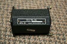 W.U. Tel Co. 4176A Audio Line Transformer