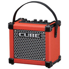 Roland Micro Cube GX Ultra Compact Battery Powered Combo Guitar Amplifier, Red