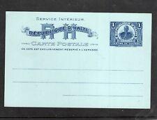 Haiti  - postal card P13- unused