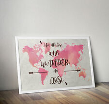Lord of the rings, print, poster, travel, quote, wall art, gift, picture, home