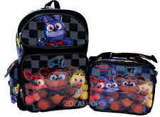 """Five Nights at Freddy's 16"""" Large Backpack & Lunch bag 2 pcs Combo Boys Bag NEW"""