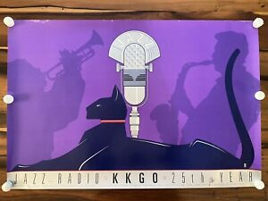 1984 Jazz Radio KKGO Los Angeles 25th Year LE Signed Art Print Poster 18/300 e1