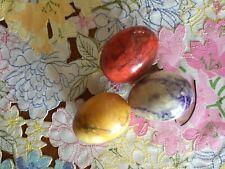Set of 3 Vintage Marble Polished Easter Eggs