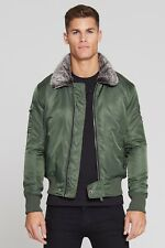 Good For Nothing Aviator Jacket Forest Green