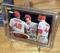 2012 Topps Chrome Mike Trout Angels #144 First Topps Chrome Card 2nd Year RC