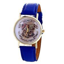 Reloj de Cuarzo Harry Potter Hogwarts oro ante nuevo Correa Cuero Azul