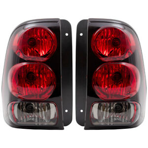 Pair Set Taillight Lens w/ Connector Plate for 02-09 Chevy Trailblazer 02-06 EXT