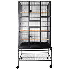 69'' Large Bird Cage Playtop 2In1 Pet Supplies W/3 Perch Stands & 6 Cup Feeders