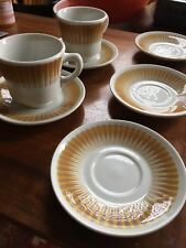 Jackson China Paul McCobb RADIANT Set of 5 Saucers 2 Cups Mugs Coffee