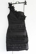NEW UK 8 NAZZ COLLECTION Black Dress Cocktail Party One Shoulder BNWT (78)
