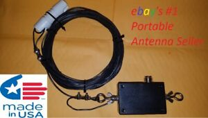 """END FED """"RANDOM WIRE"""" HF DIPOLE 9:1 ANTENNA. STAINLESS/ 80-6 METERS 150W PEP"""