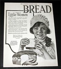 1920 OLD MAGAZINE PRINT AD, FLEISHMANN'S YEAST, BREAD IS YOUR BEST FOOD, ART!