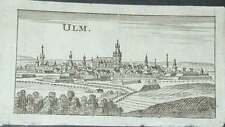 Ulm Donau Gesamtansicht Württemberg Merian Riegel Original Kupferstich 1686