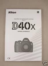 FRENCH Nikon D40X Instruction Manual ORIGINAL BOOK New