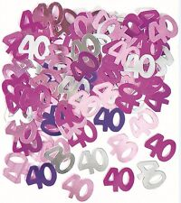 Confetti Happy 40 th Birthday Glitz Pink foil M55205 party decoration Scatter
