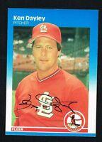 Ken Dayley #293 signed autograph auto 1987 Fleer Baseball Trading Card