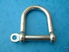 BRAND NEW 5mm STAINLESS STEEL 316 WIDE JAW SHACKLES