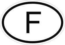F FRANCE Autocollant OVAL code pays pare-chocs Autocollant Voiture Nouveau