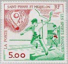 St. Pierre Miquelon SPM 1991 622 571 Basque Sports Tennis Sports Game Game MNH