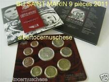 2011 SAN MARINO 9 monete EURO BU Saint Marin uomo luna