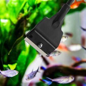 Glass Cleaning Stainless Steel Aquarium Fish Tank Algae Scraper Clean Brush