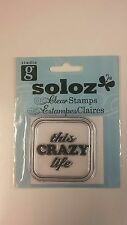 """Studio G Clear Cling Rubber Stamps """"This Crazy Life"""" New in Package"""