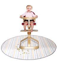 Multi-Use Catch All Baby Feeding Mat Highchair Floor Mess Splash Mat  New