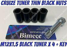 Alloy Wheel B Black Tuner Nuts x 4 M12x1.5 Volvo 480 S40 V40 Citroen C Zero