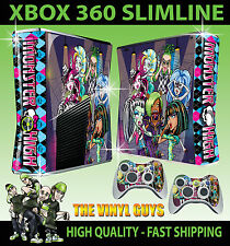 Xbox 360 slim monster high 2 dingo vampire zombie autocollant peau & 2 x pad skins