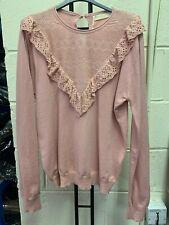 Exquiss Baby Pink Crochet Bib Jumper O/S BNWOT RRP £40.00