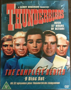Thunderbirds Complete Series (2008, 9-Disc Set) MASSIVE OVER 27 HOURS ! Region 2